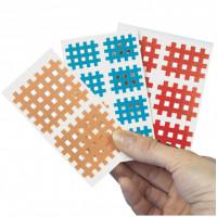 Gitter-Tape AQ-Strip 20 Blatt a 6 Pflaster 4x3cm, 20X6 ST, Diaprax GmbH