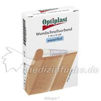 Optiplast Wundschnellverband wasserfest 1mx6cm, 1 ST, Wvp Pharma und Cosmetic Vertriebs GmbH