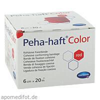 Peha-haft Color Fixierbinde latexfrei 6cmx20m rot, 1 ST, Paul Hartmann AG