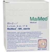 Mullkompressen 5x5 8-fach steril, 25X2 ST, Maimed GmbH