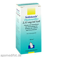 Sedotussin Hustenstiller, 100 ML, Sanofi-Aventis Deutschland GmbH GB Selbstmedikation /Consumer-Care