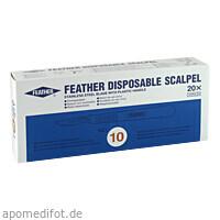 Skalpelle Einmal Fig. 10 Feather, 20 ST, Dr. Junghans Medical GmbH