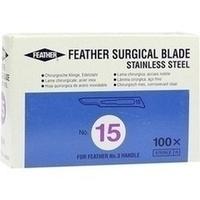 Skalpelle Einmal Klingen Fig. 15 Feather, 100 ST, Dr. Junghans Medical GmbH