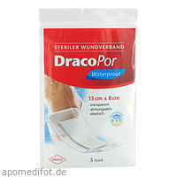 Dracopor Waterproof Wundverband steril 15cmx8cm, 5 ST, Dr. Ausbüttel & Co. GmbH