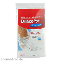 Dracopor Waterproof Wundverband steril 20cmx10cm, 5 ST, Dr. Ausbüttel & Co. GmbH