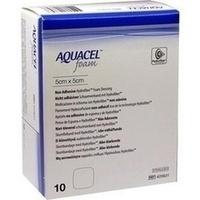 AQUACEL Foam nicht-adhäsiv 5x5cm, 10 ST, Convatec (Germany) GmbH