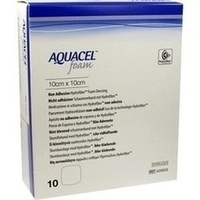 AQUACEL Foam nicht-adhäsiv 10x10cm, 10 ST, Convatec (Germany) GmbH