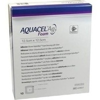 AQUACEL Ag Foam adhäsiv 12.5x12.5cm, 10 ST, Convatec (Germany) GmbH