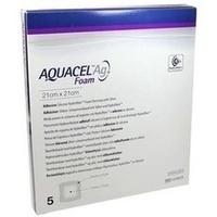AQUACEL Ag Foam adhäsiv 21x21cm, 5 ST, Convatec (Germany) GmbH