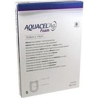 AQUACEL Ag Foam adhäsiv Ferse 19.8x14cm, 5 ST, Convatec (Germany) GmbH