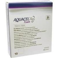 AQUACEL Ag Foam nicht-adhäsiv 10x10cm, 10 ST, Convatec (Germany) GmbH