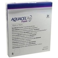 AQUACEL Ag Foam nicht-adhäsiv 15x15cm, 5 ST, Convatec (Germany) GmbH