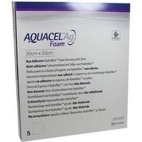 AQUACEL Ag Foam nicht-adhäsiv 20x20cm, 5 ST, Convatec (Germany) GmbH
