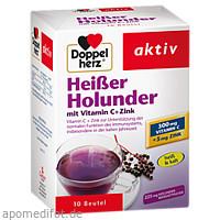 Doppelherz Heißer Holunder mit Vitamin C + Zink, 10 ST, Queisser Pharma GmbH & Co. KG