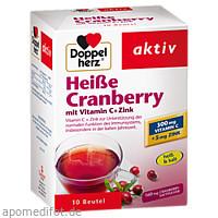 Doppelherz Heiße Cranberry mit Vitamin C + Zink, 10 ST, Queisser Pharma GmbH & Co. KG
