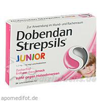DOBENDAN Strepsils Junior 1,2mg/0,6 mg Lutschtabl., 24 ST, Reckitt Benckiser Deutschland GmbH