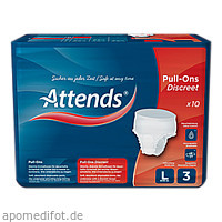 Attends Pull-Ons Discreet 3 Large, 10 ST, Attends GmbH