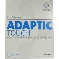 ADAPTIC TOUCH 7.6x11cm NON-ADHER.SIL.D.Wundgaze, 10 ST, Bios Medical Services GmbH