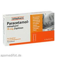 Paracetamol-ratiopharm 75 mg Zäpfchen, 10 ST, ratiopharm GmbH