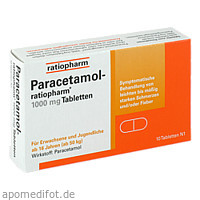 Paracetamol-ratiopharm 1000 mg Tabletten, 10 ST, ratiopharm GmbH