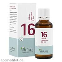 Biochemie Pflüger NR. 16 Lithium chlor. D 6, 30 ML, Homöopathisches Laboratorium Alexander Pflüger GmbH & Co. KG