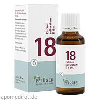 Biochemie Pflüger NR. 18 Calcium sulf. D 6, 30 ML, Homöopathisches Laboratorium Alexander Pflüger GmbH & Co. KG