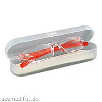 Lesebrille 3.0 dpt orange unisex + Hartschalenetui, 1 ST, Artemed Products GmbH