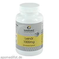 Leinöl 1000mg, 100 ST, Warnke Vitalstoffe GmbH