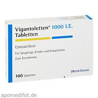 VIGANTOLETTEN 1.000 I.E. Tabletten, 100 ST, Merck Selbstmedikation GmbH