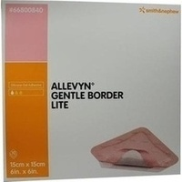 Allevyn Gentle Border Lite 15x15cm, 10 ST, Smith & Nephew GmbH