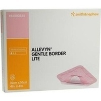 Allevyn Gentle Border Lite 10x10cm, 10 ST, Smith & Nephew GmbH