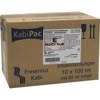 Isotone Kochsalzlösung 0.9% 100ml halbgefüllt, 10X50 ML, Fresenius Kabi Deutschland GmbH