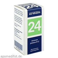 BIOCHEMIE Orthim 24 Arsenum jodatum D 12 Tabletten, 100 ST, Orthim KG