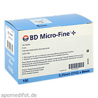 BD Micro-Fine + 8 Nadeln 100x0.25x8mm, 100 ST, Eurimpharm Arzneimittel GmbH
