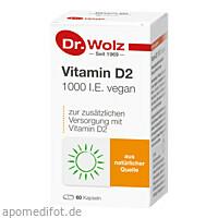 Vitamin D2 1000 I.E. vegan, 60 ST, Dr. Wolz Zell GmbH