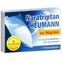 Naratriptan Heumann bei Migräne 2.5 mg Filmtabl., 2 ST, Heumann Pharma GmbH & Co. Generica KG