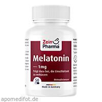 Melatonin Kapseln 1mg, 50 ST, Zein Pharma - Germany GmbH