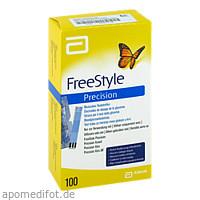FreeStyle Precision Blutzucker Teststr. o. Codier., 100 ST, Emra-Med Arzneimittel GmbH