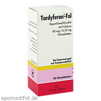 Tardyferon-Fol Depot-Eisen(II)-sulfat mit Folsäure, 50 ST, Pierre Fabre Pharma GmbH