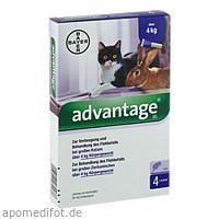ADVANTAGE 80 mg f.gr.Katzen u.gr.Zierkaninchen, 4X0.8 ML, Bayer Vital GmbH GB - Tiergesundheit