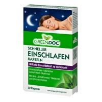 GreenDoc Schneller Einschlafen Kapseln, 32 ST, DISTRICON GmbH