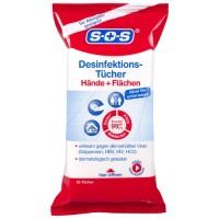 SOS Desinfektionstücher, 25 ST, DISTRICON GmbH