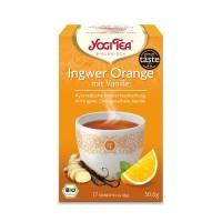 YOGI TEA INGWER ORANGE + Vanille BIO, 17X1.8 G, Taoasis GmbH Natur Duft Manufaktur