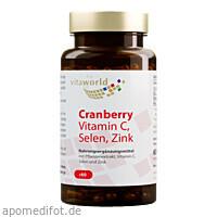 Cranberry Vit C + Selen + Zink, 60 ST, Vita World GmbH