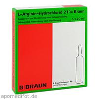 L-Arginin-Hydrochlorid 21% Elek.-Konz.Inf.-Ls, 5X20 ML, B. Braun Melsungen AG