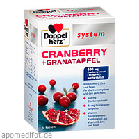 Doppelherz Cranberry + Granatapfel system, 60 ST, Queisser Pharma GmbH & Co. KG