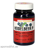 Heidelbeer P Kapseln, 60 ST, Hecht-Pharma GmbH