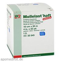 Mollelast haft latexfrei blau 10cm x 20m gedehnt, 1 ST, Lohmann & Rauscher GmbH & Co. KG