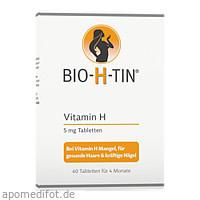 BIO H TIN Vitamin H 5mg für 4 Monate, 60 ST, Dr. Pfleger Arzneimittel GmbH