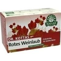 DR. KOTTAS Rotes Weinlaub mit Pfefferminze Fbtl., 20 ST, Hecht Pharma GmbH GB - Handelsware
